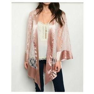 Kimono 🔹 Blush Lace